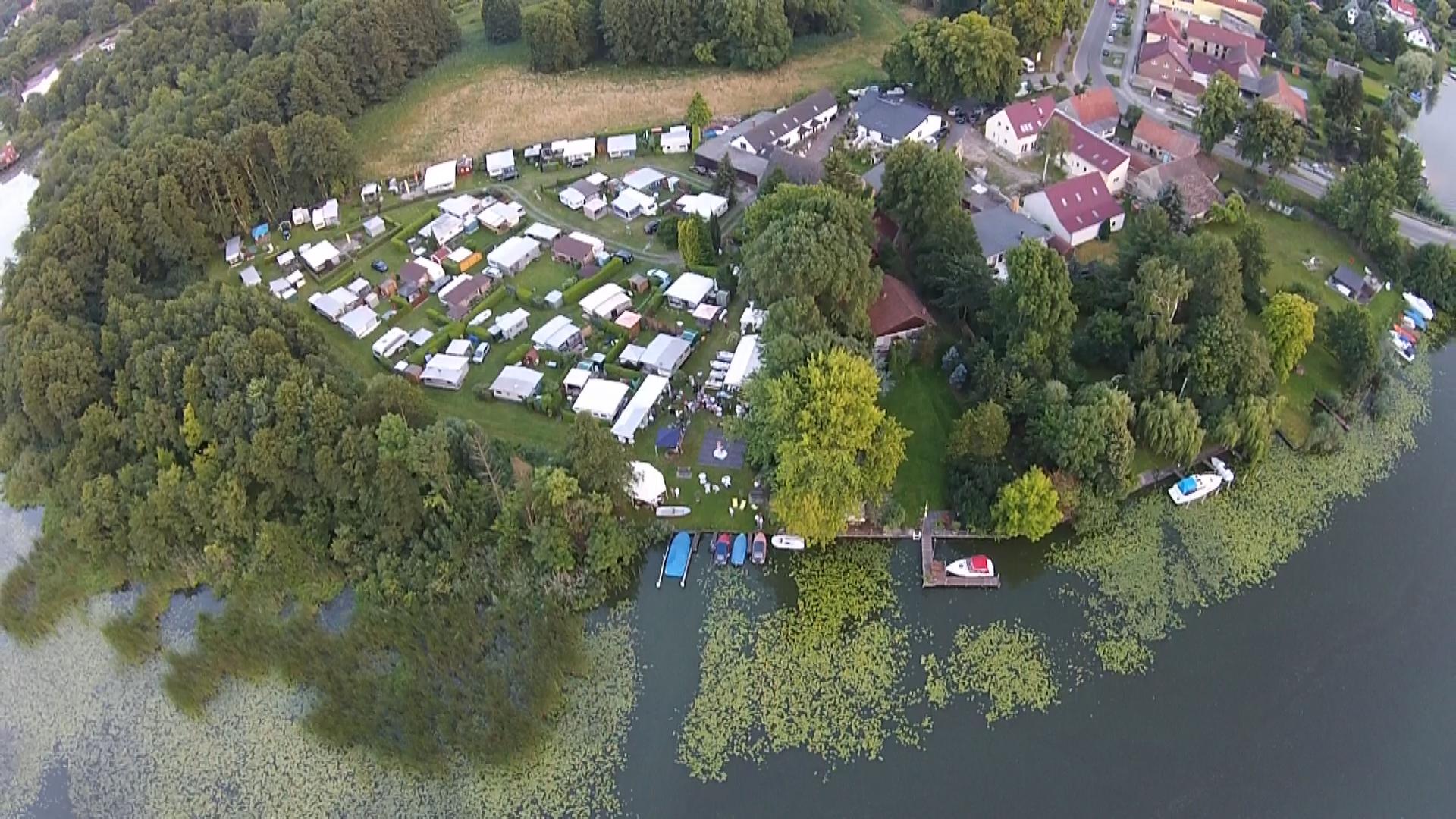 Campingplatz Wernsdorf von ObenSchräg